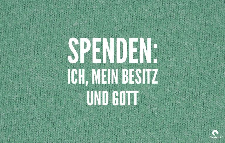 Read more about the article Spenden: ich, mein Besitz und Gott